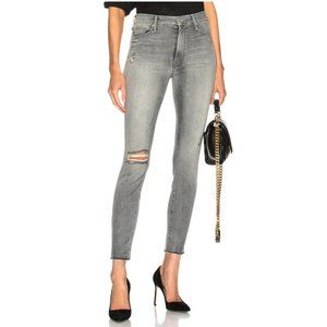 Mother High Waisted Looker Fray Jeans Best Left in the Shadows Size 25